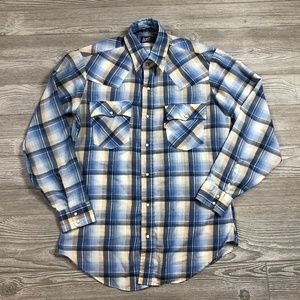 Levi's Plaid Button-Up Shirt Men's Medium Z59